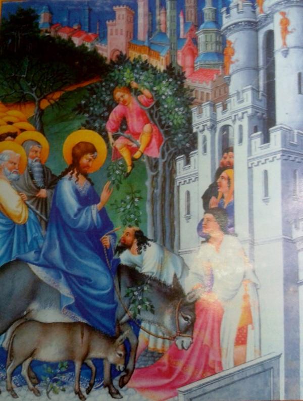 Jesùs entra triunfalmente porque ansìa morir por nosotros.Porque va a vencer el pecado, a la muerte y al demonio, nuestro enemigo.